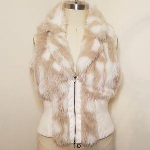 Charlotte Russe Faux Fur Sweater Vest